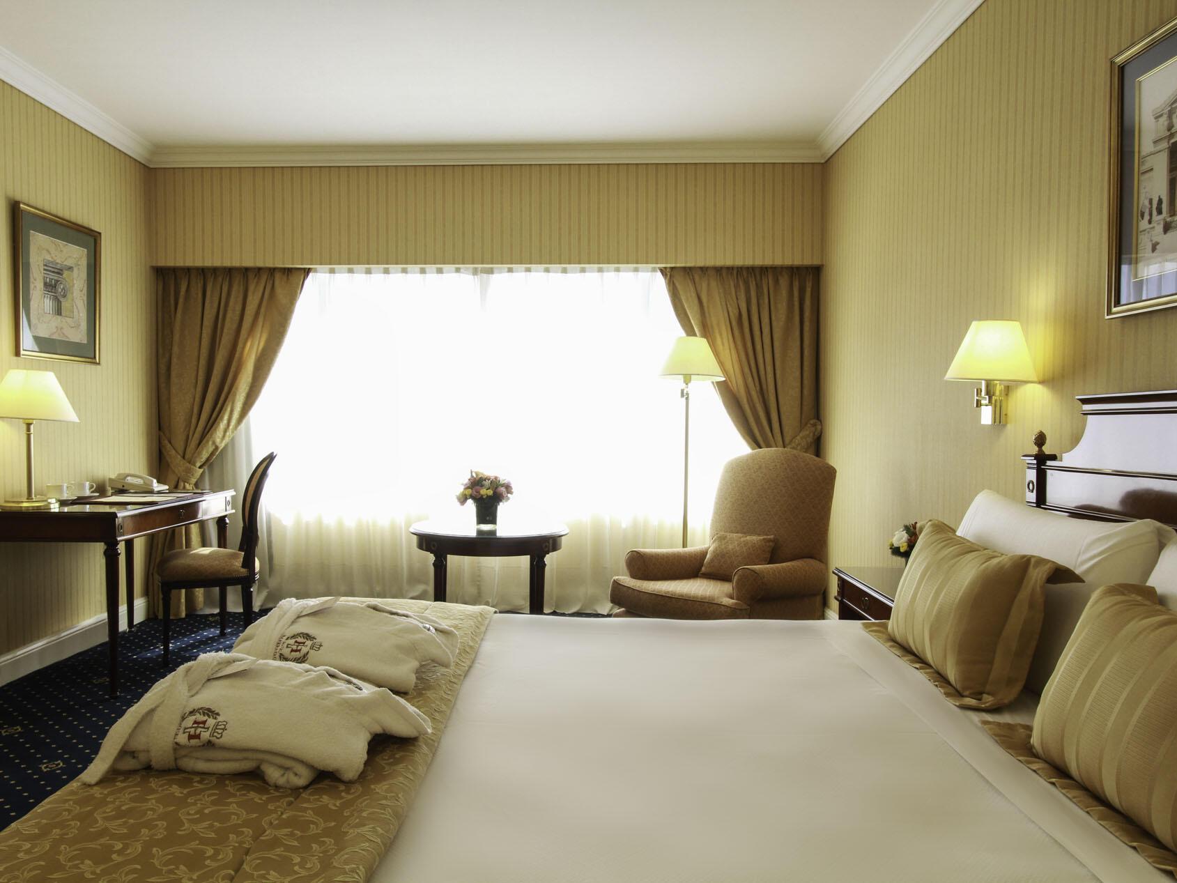 Habitación Deluxe con una cama en el Hotel Emperador Buenos Aires