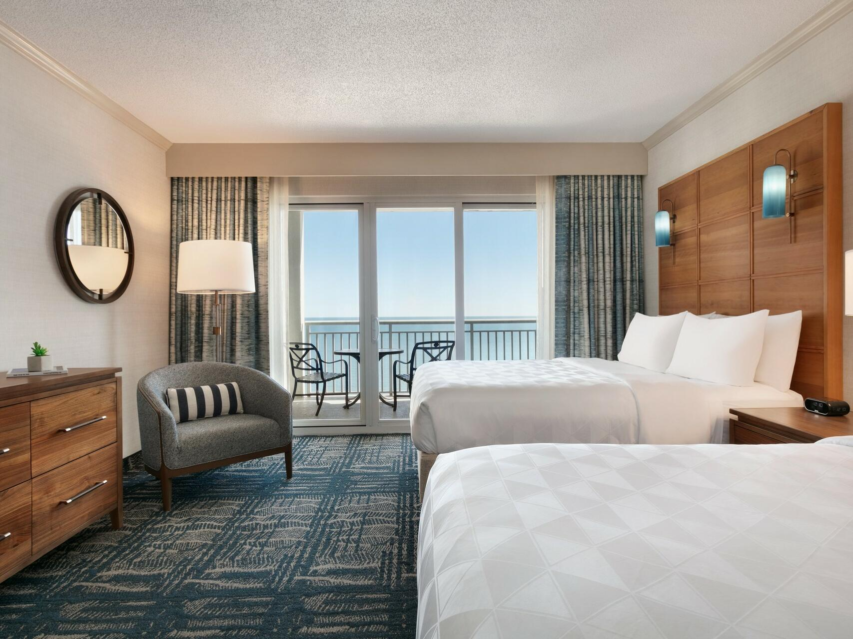 Two Queen beds in Oceanfront Suite 2  at Holiday Inn Hotel