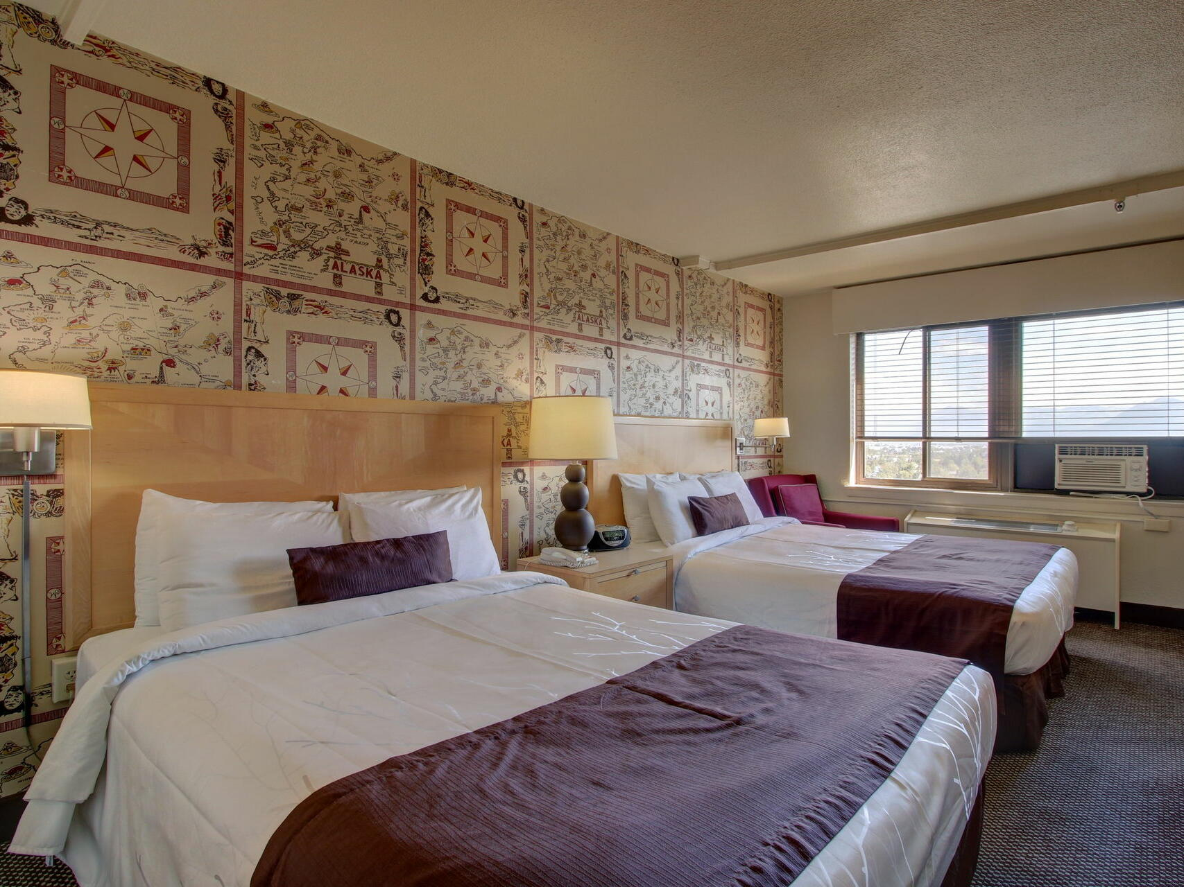 Double Queen Deluxe Room with two beds at Inlet Tower