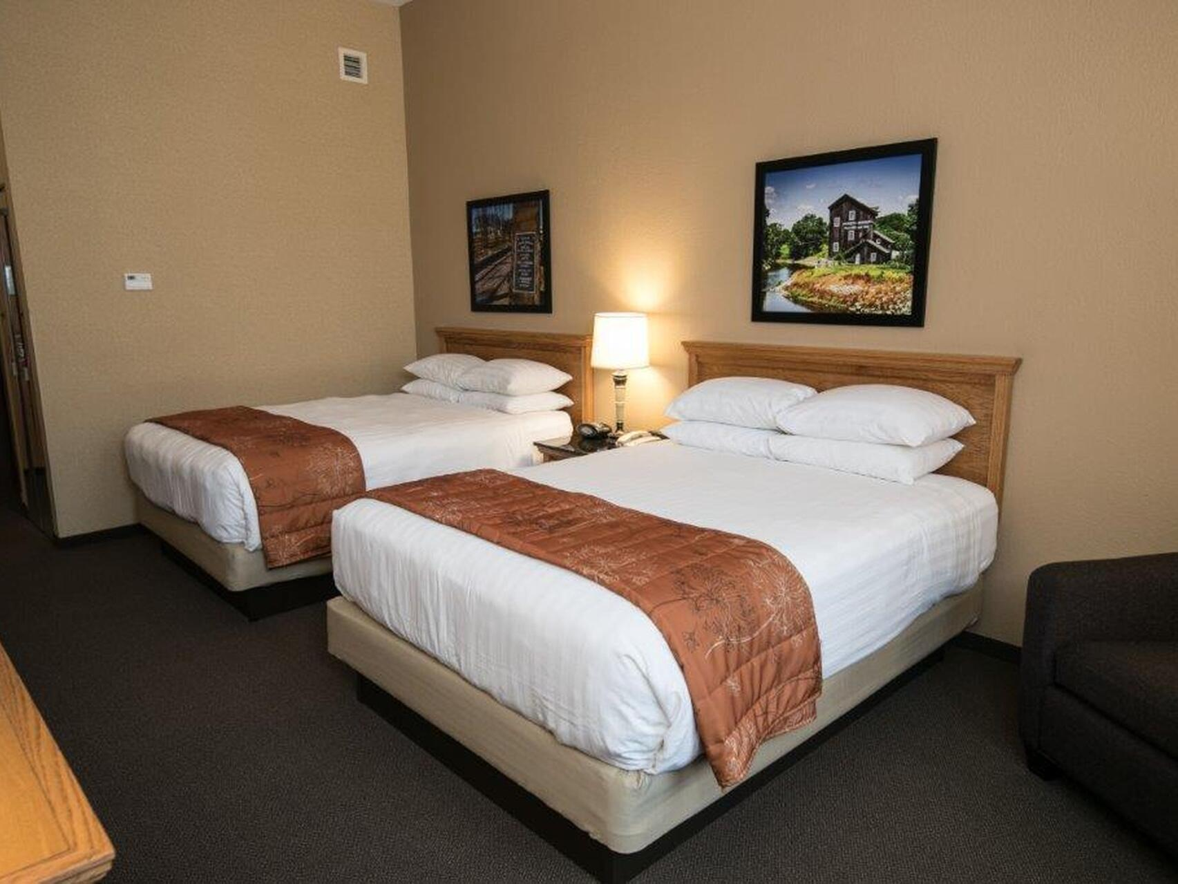 2 Double beds in Queen Terrace River View at Marv Herzog Hotel
