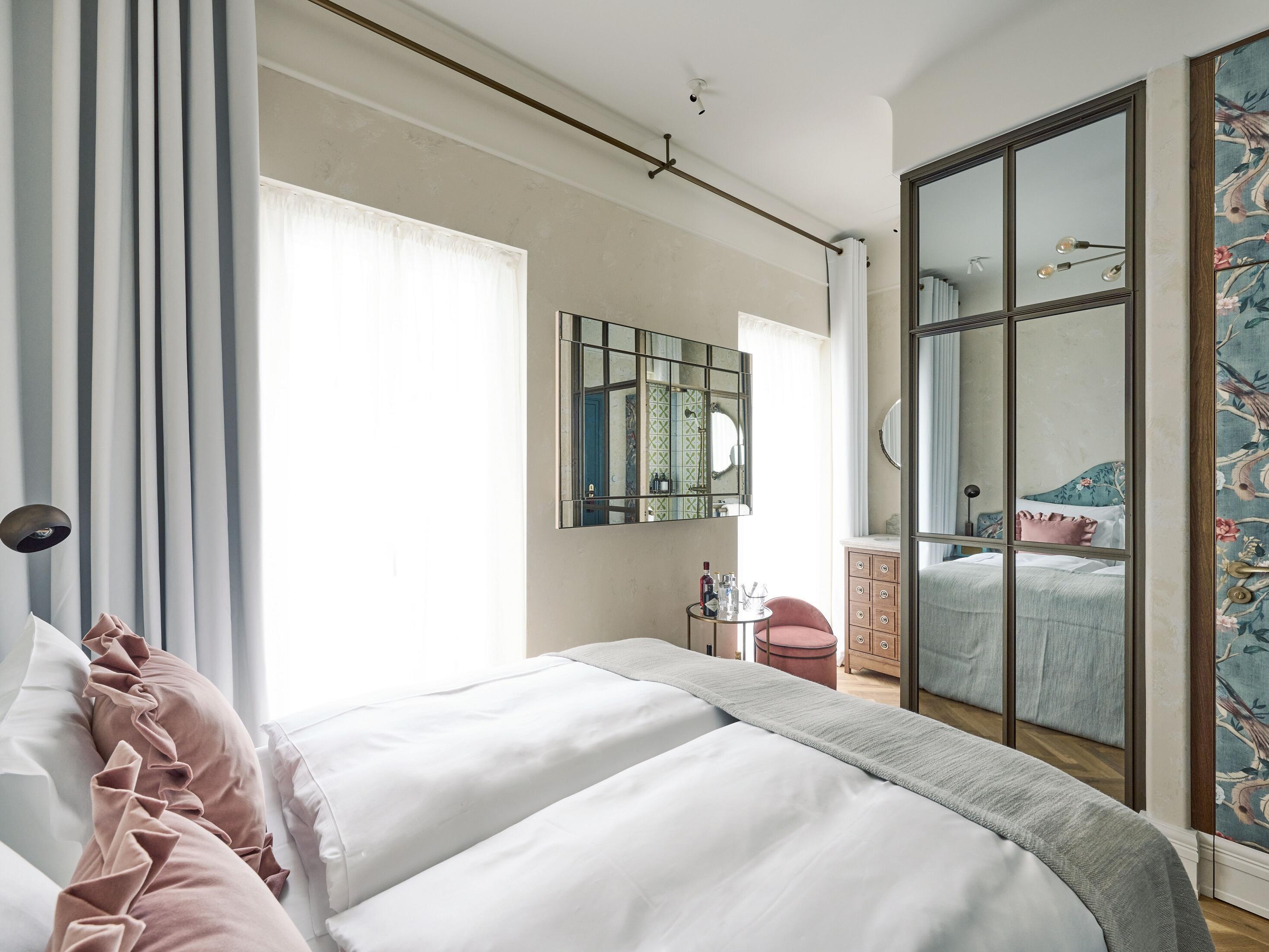 Sicht des Petit Zimmers vom Hotel Motto Wien