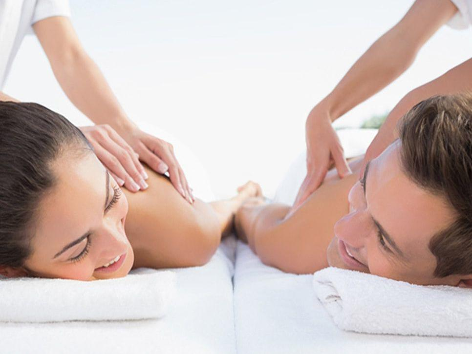 Couple enjoying massage from Imperial treatment at Hotel Sumaq