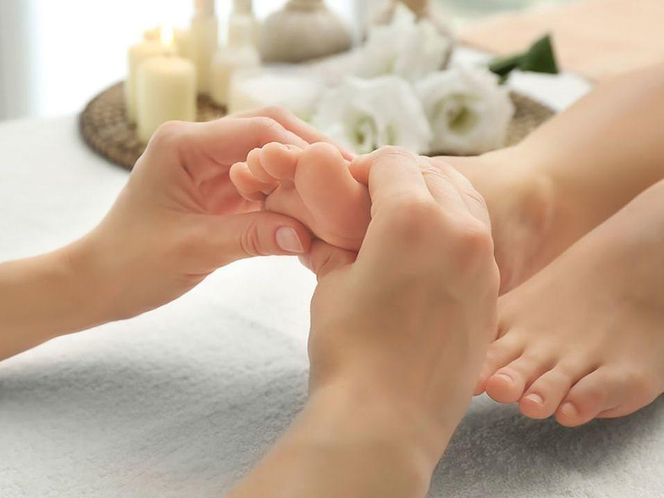 Gentle foot massages from Hotel Sumaq's spa