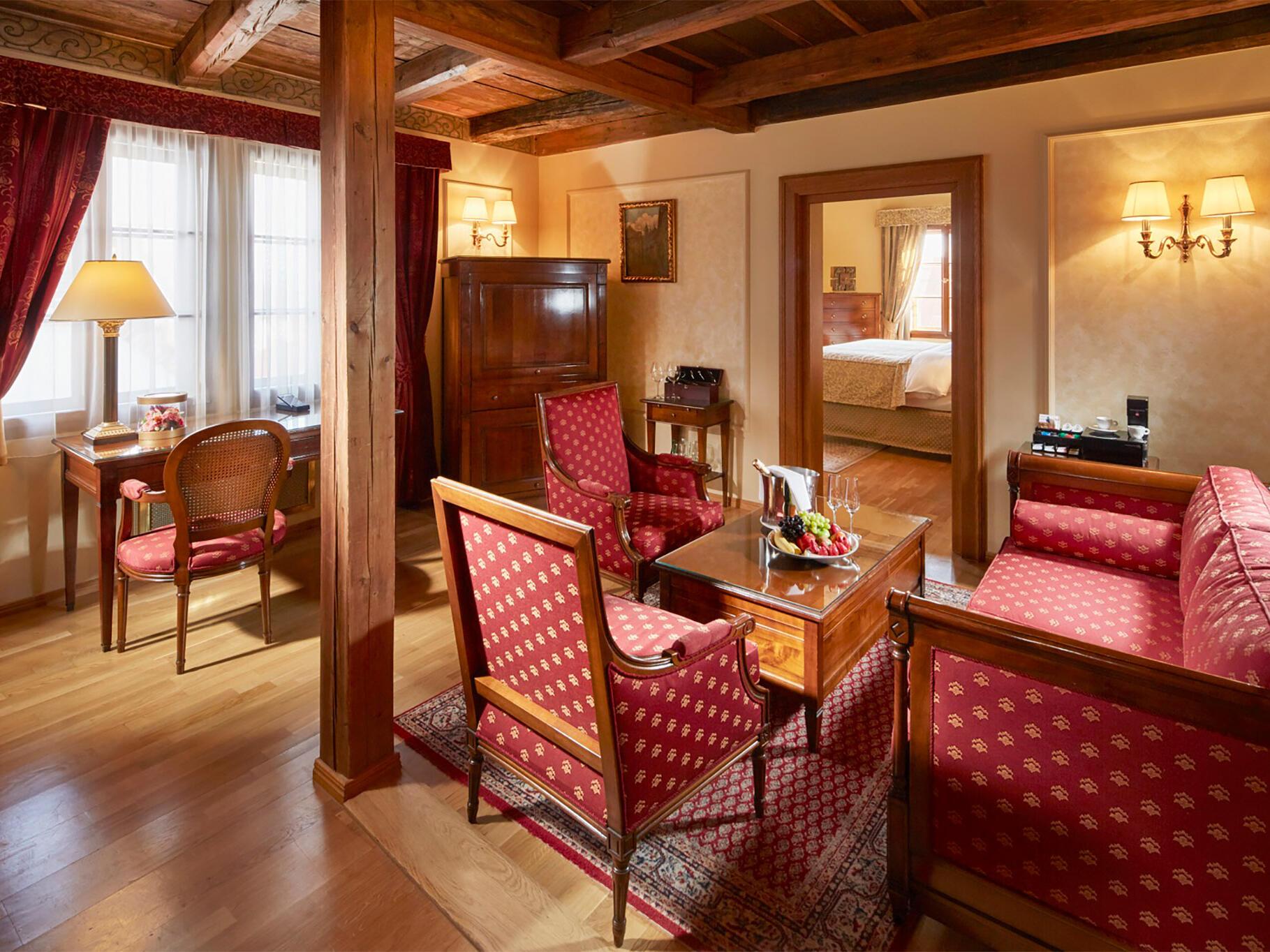 Tycho de Brahe Suite at Golden Well Hotel in Prague