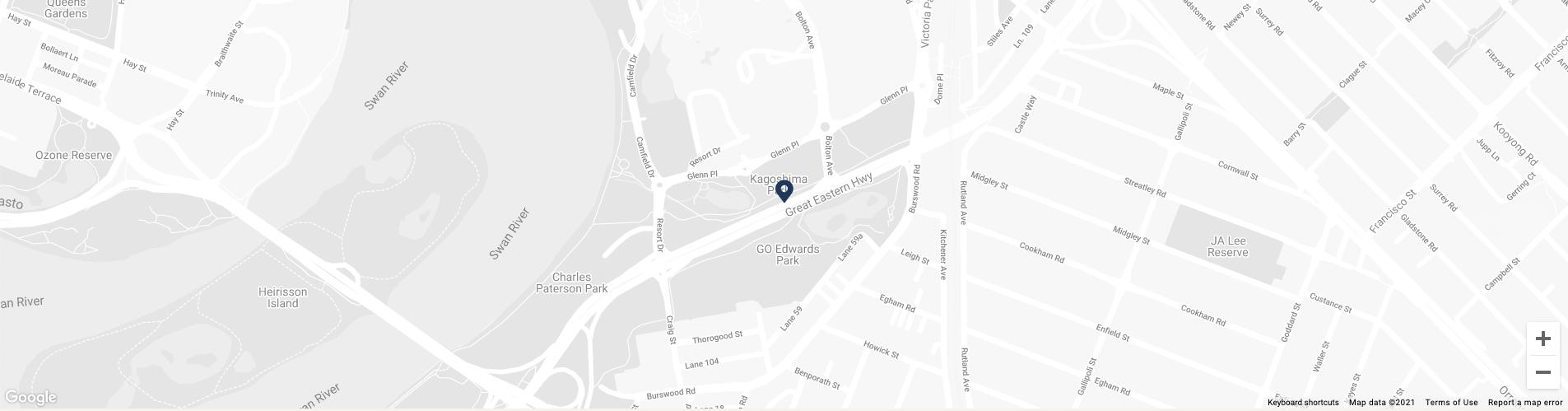 Map image of Crown Metropol Perth