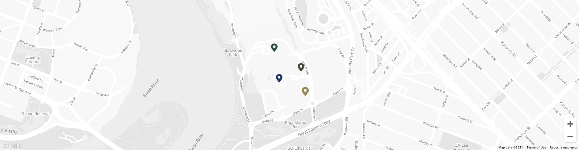 Map image of Crown Sports Bar