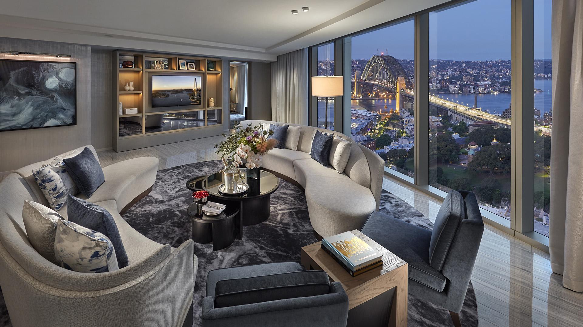 Premier Harbour Bridge Suite Accommodation At Crown Towers Sydney
