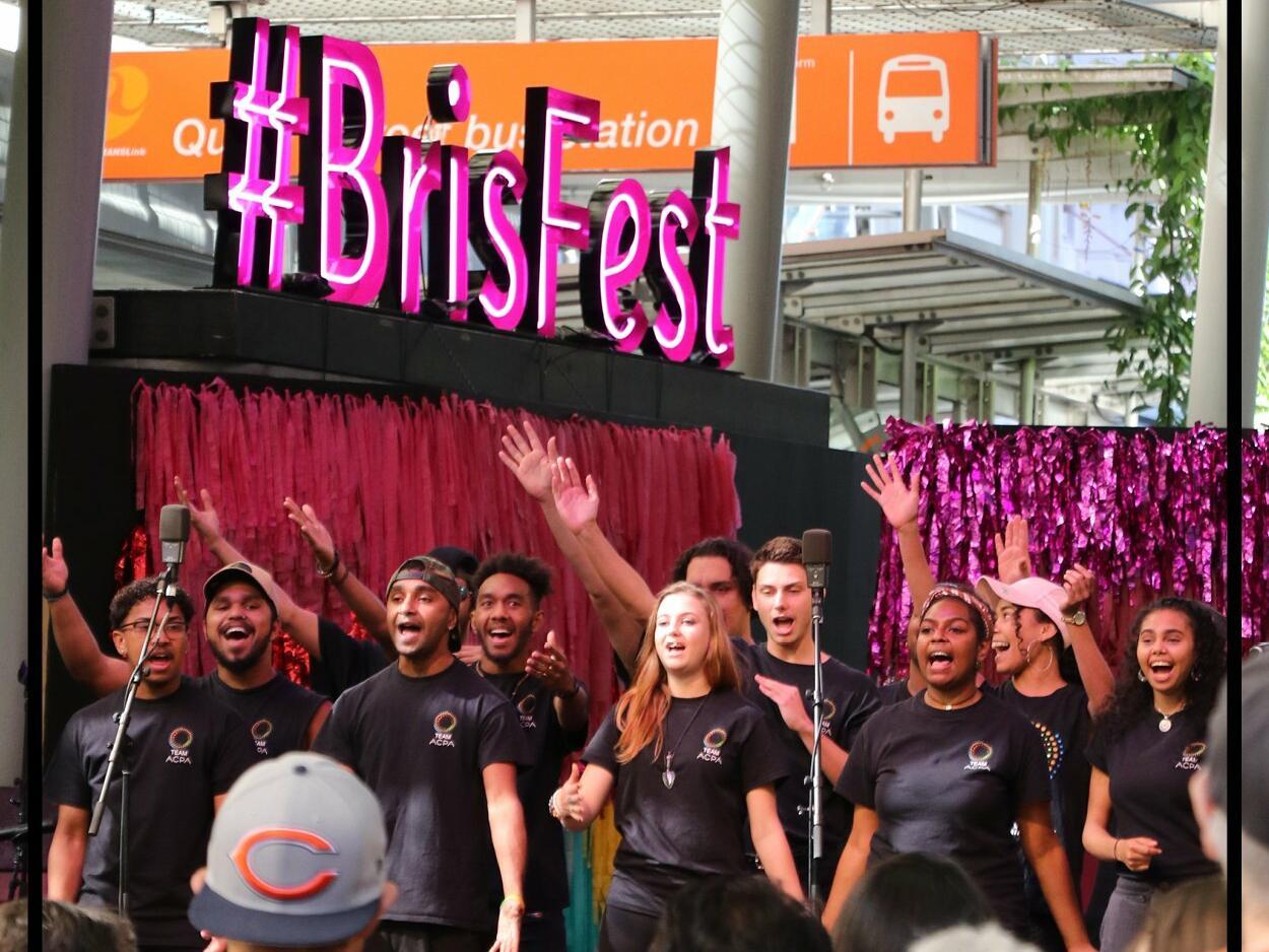 Man enjoying Bisbane festival at Pullman & Mercure Brisbane King George Square