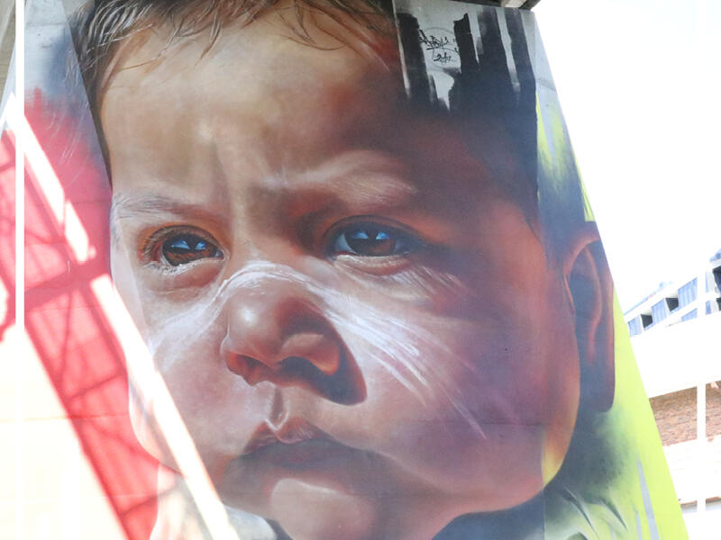 Street Art at Pullman and Mercure King George Square Brisbane