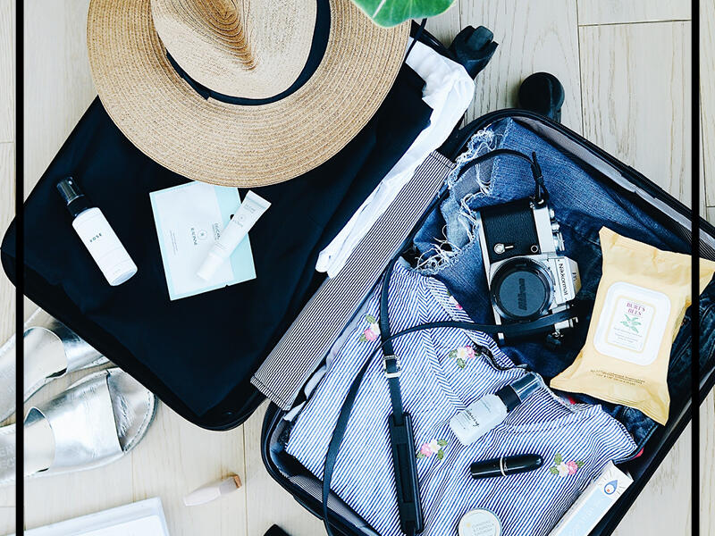 opened suitcase at Pullman & Mercure Brisbane King George Square