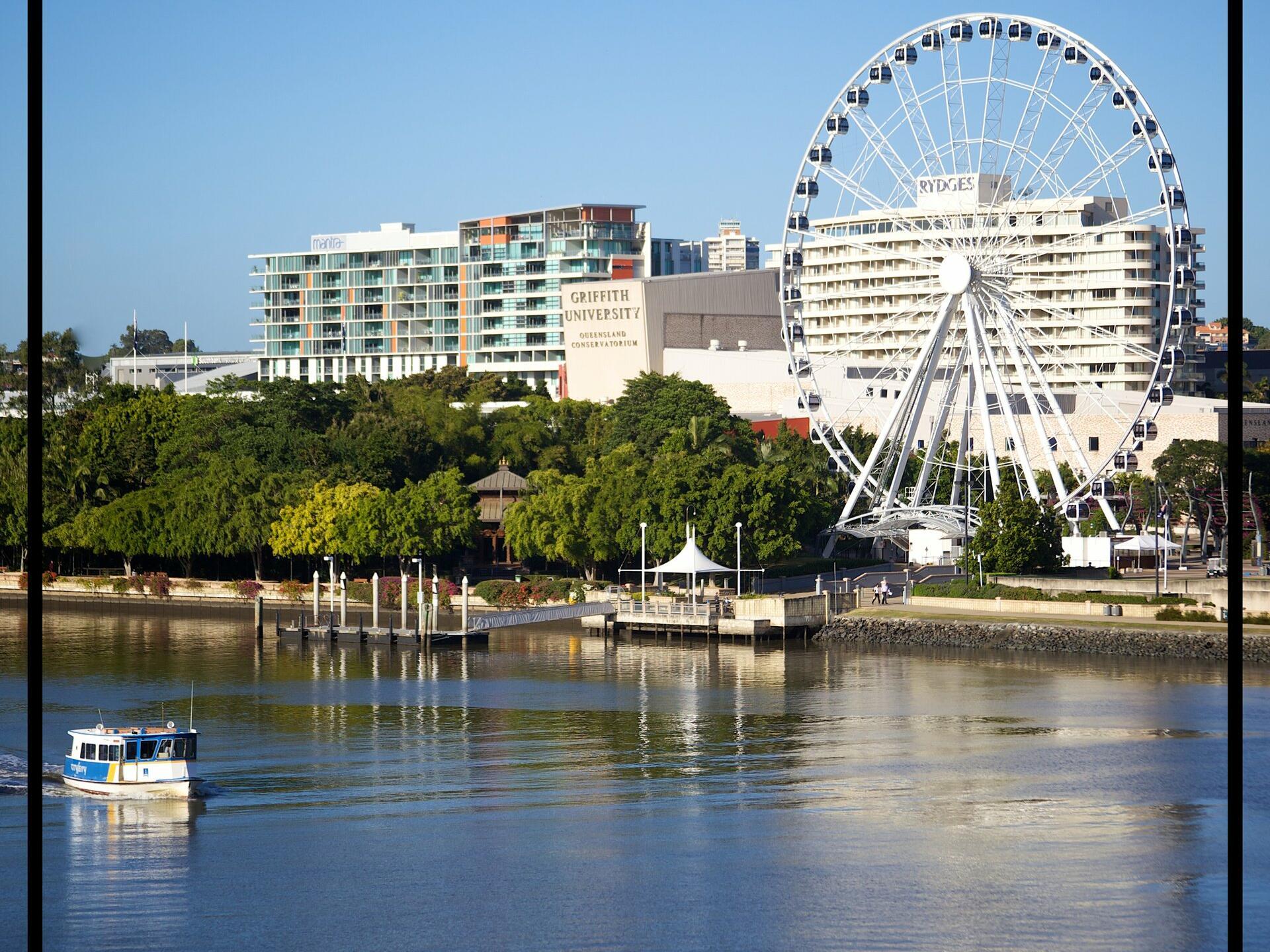 Boat sailing near at Pullman & Mercure Brisbane King George Square