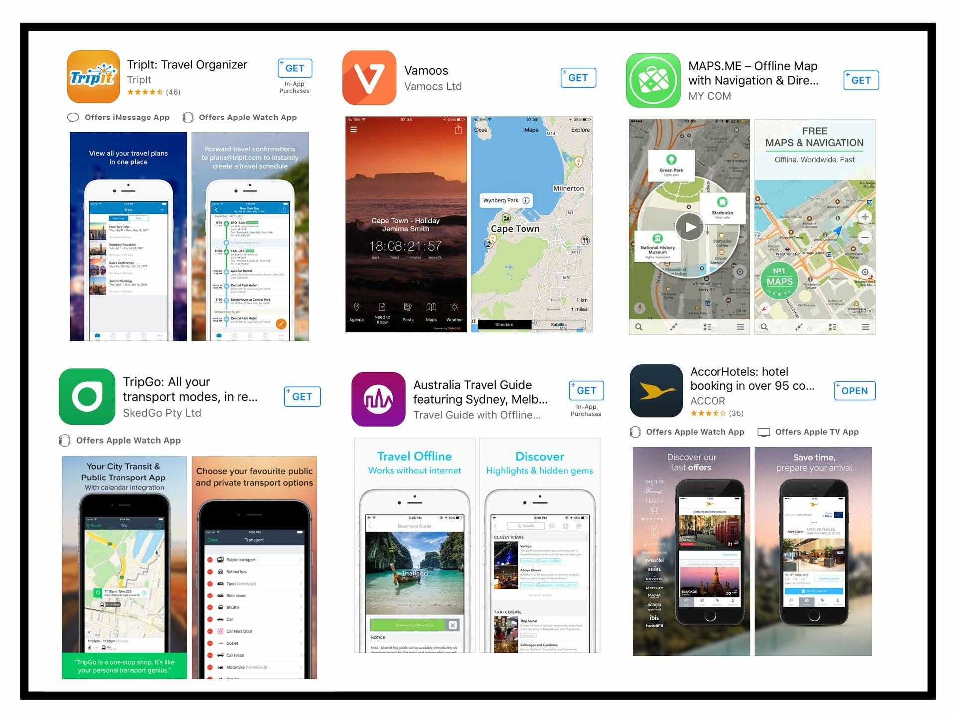 6 travel apps introduced for traveling at Pullman & Mercure Brisbane King George Square