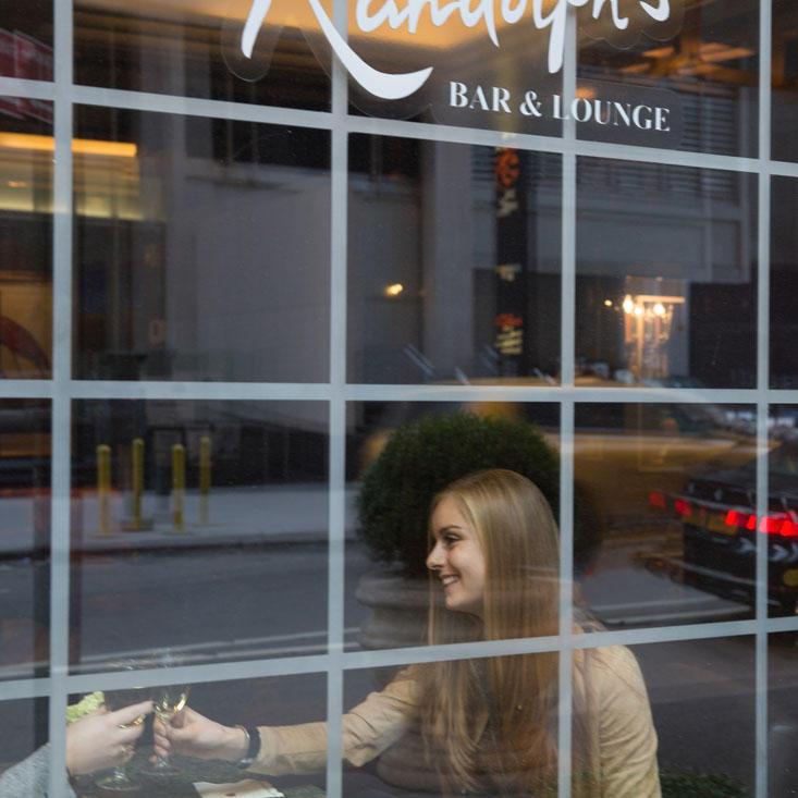 Randolph's Bar and lounge Window
