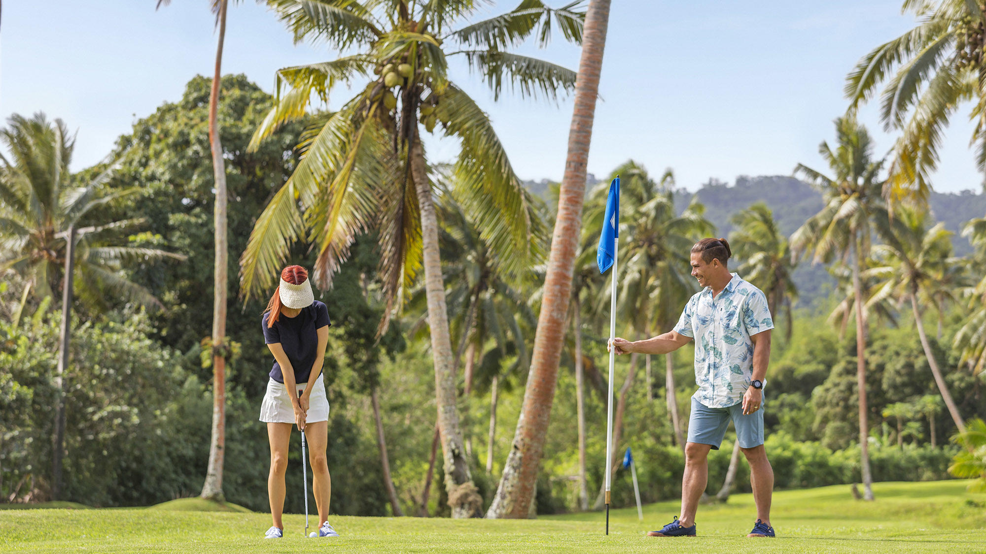 Golf Course with Couple
