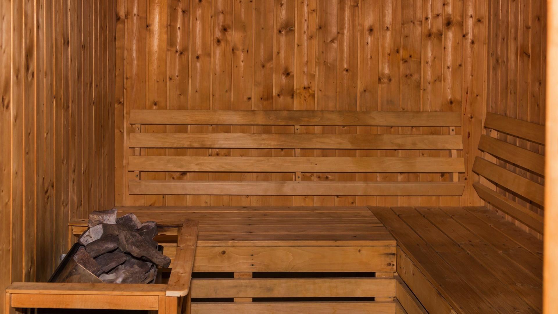 Sauna room at Warwick Doha