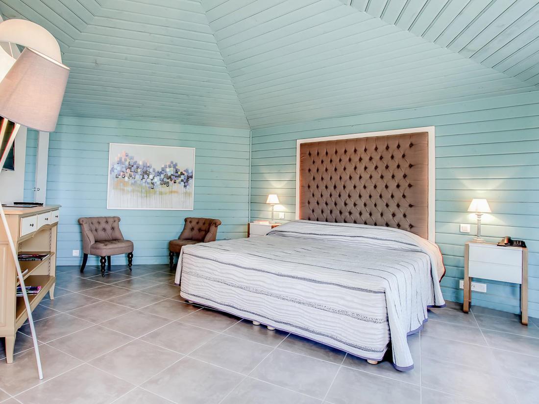 Junior Suite Bedroom at Roc e Fiori Hotel