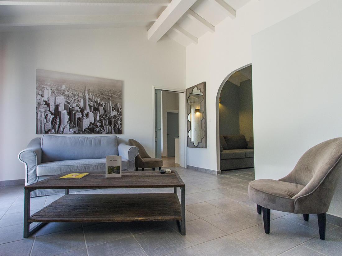 Suite Living Room at Roc e Fiori Hotel