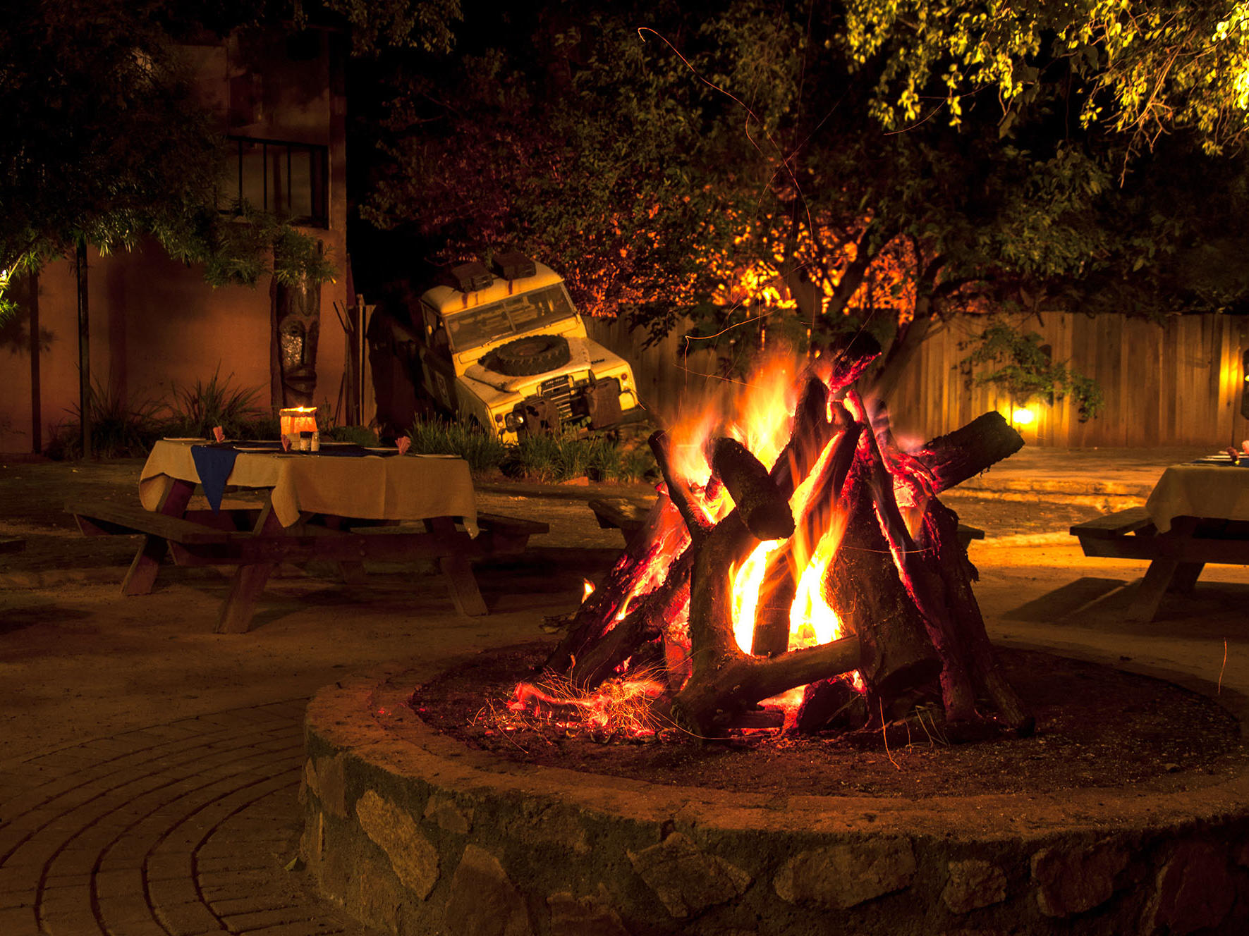 Boma Restaurant by the Fire