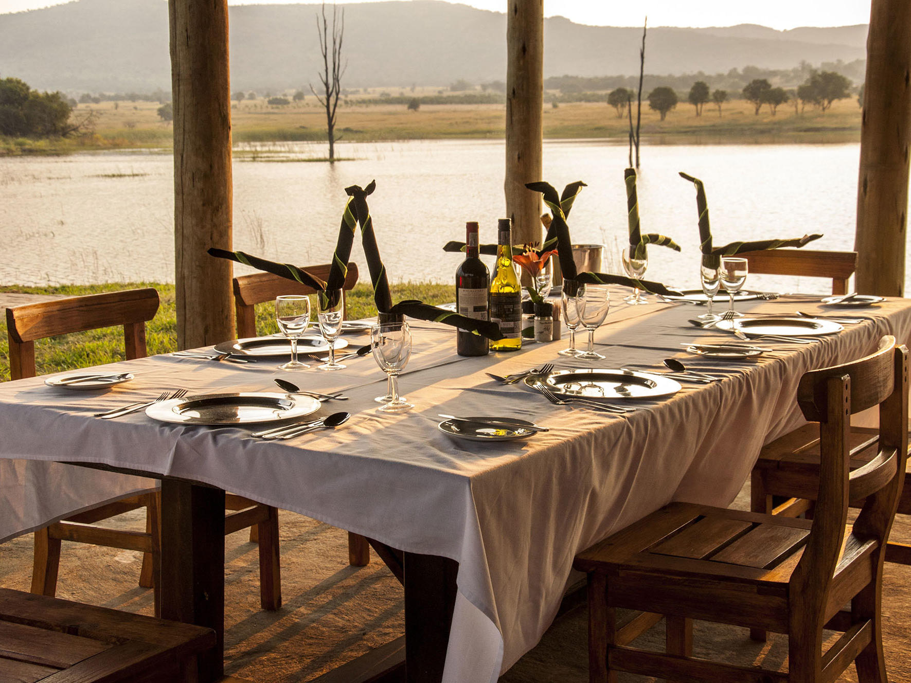 Dining table with nice natural scenery