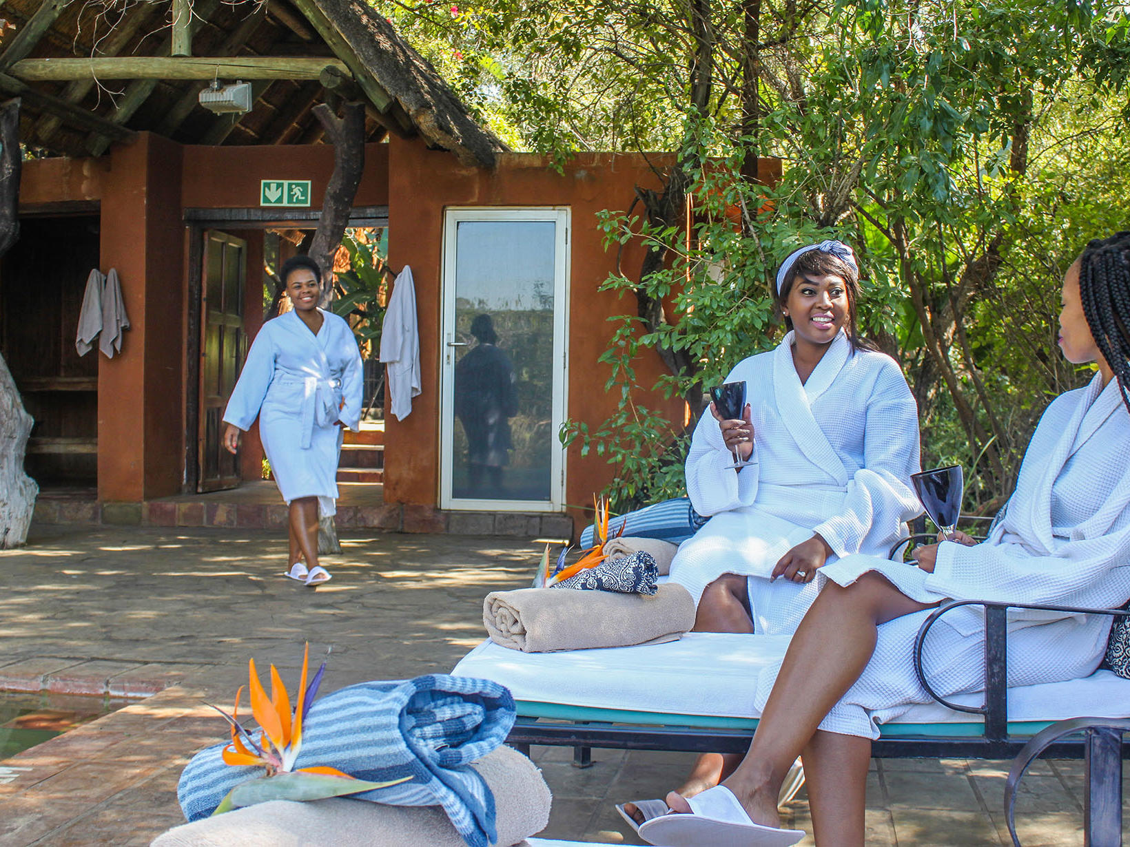 Spa with Ladies enjoying quality time