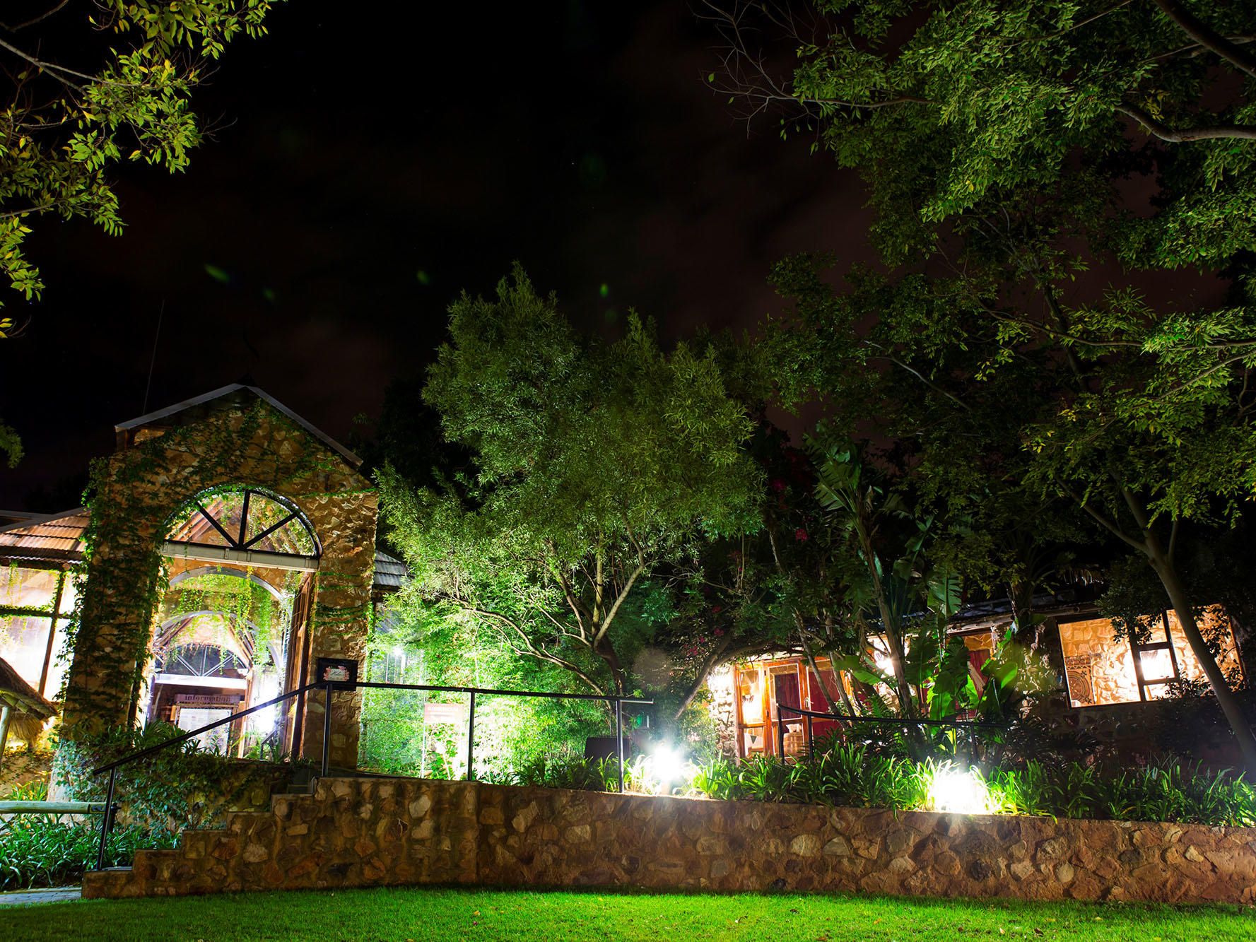 Landscape of the hotel by night