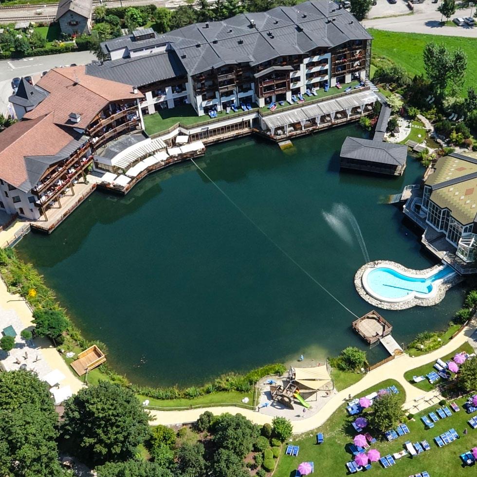 Aerial View at Falkensteiner Hotel Lido Ehrenburgerhof