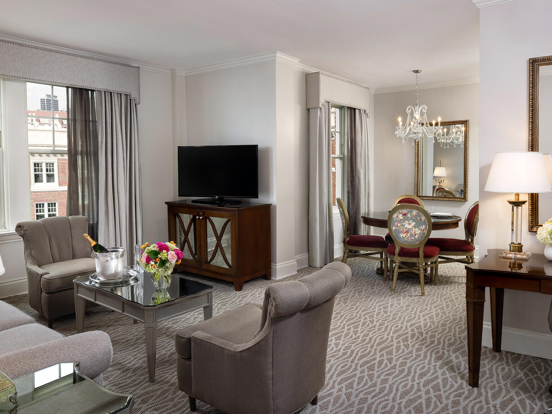 Deluxe Suite living area Warwick Melrose Dallas