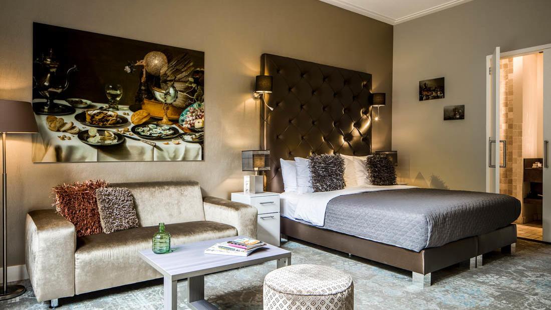 Luxury Suite Patio Bedroom at Luxury Suites Amsterdam