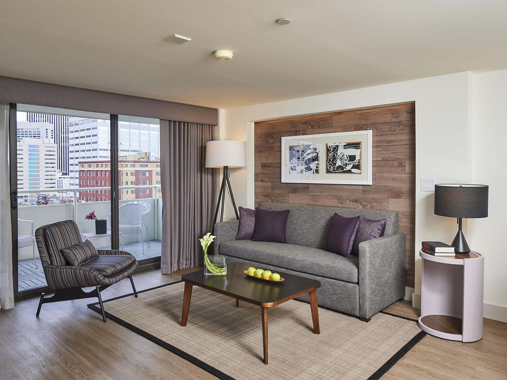 Warwick Denver Suite Living Room with Balcony