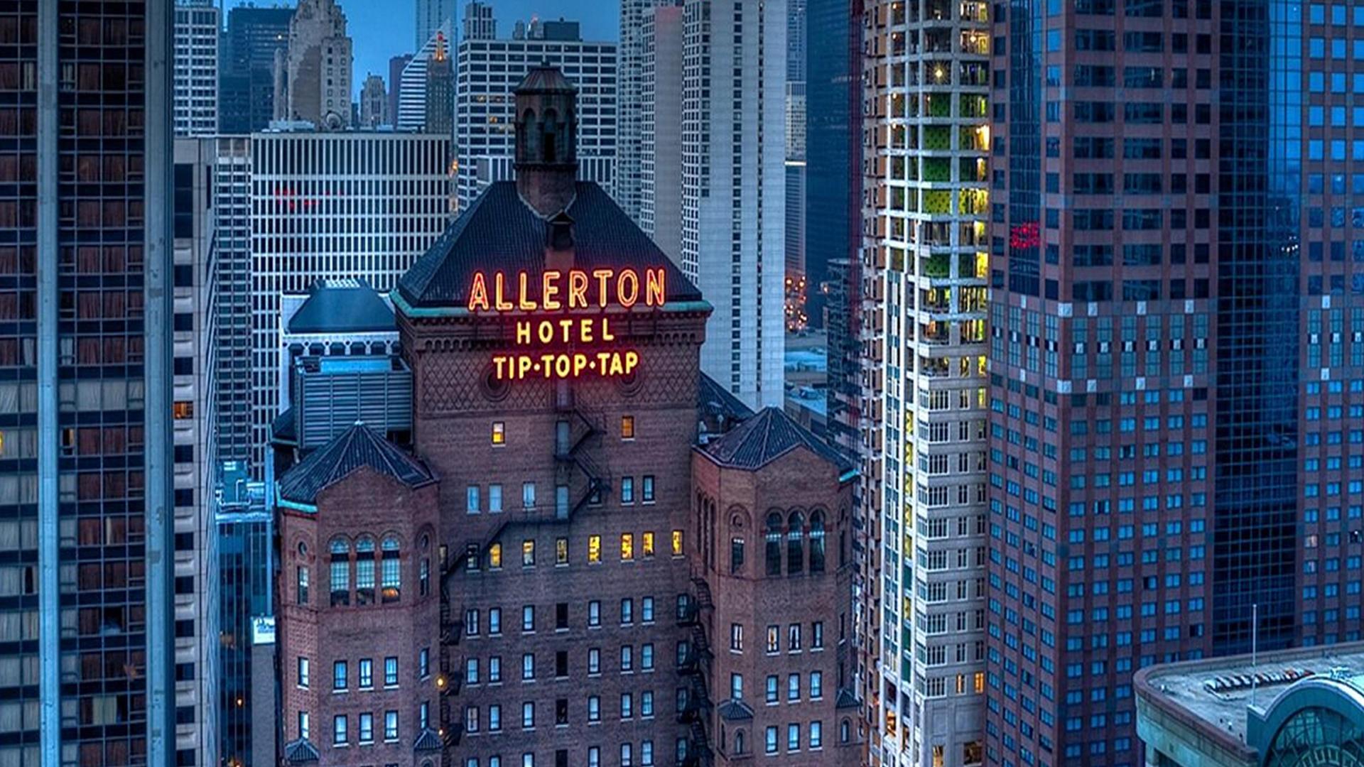 Allerton Hotel Neon Sign