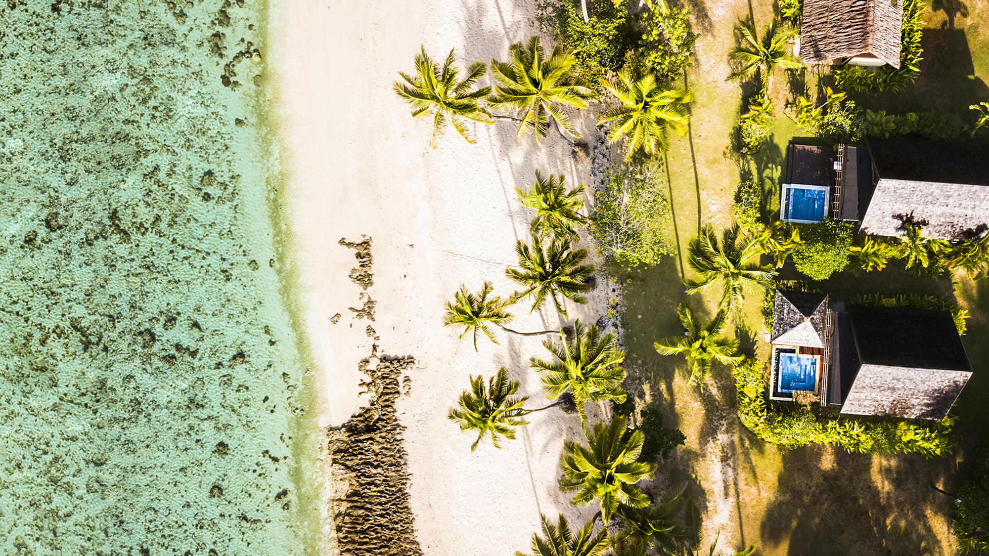 Aerial Shot with Pools