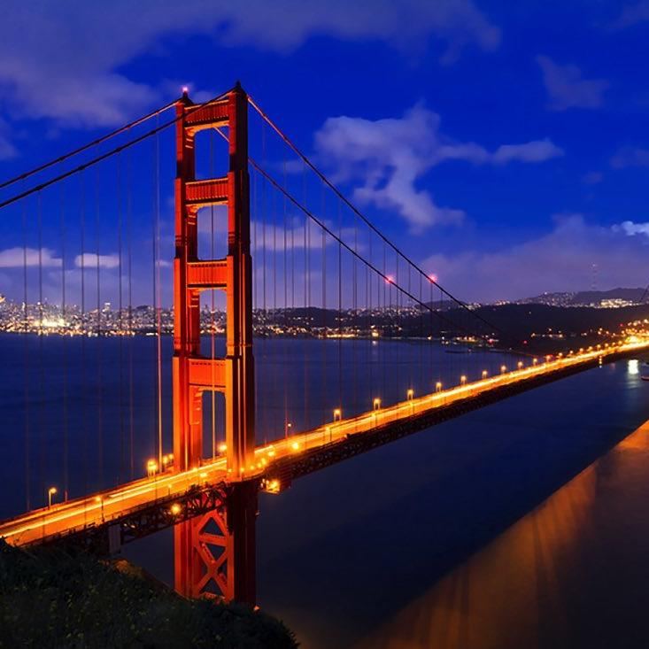 Golden Gate Bridge Lights