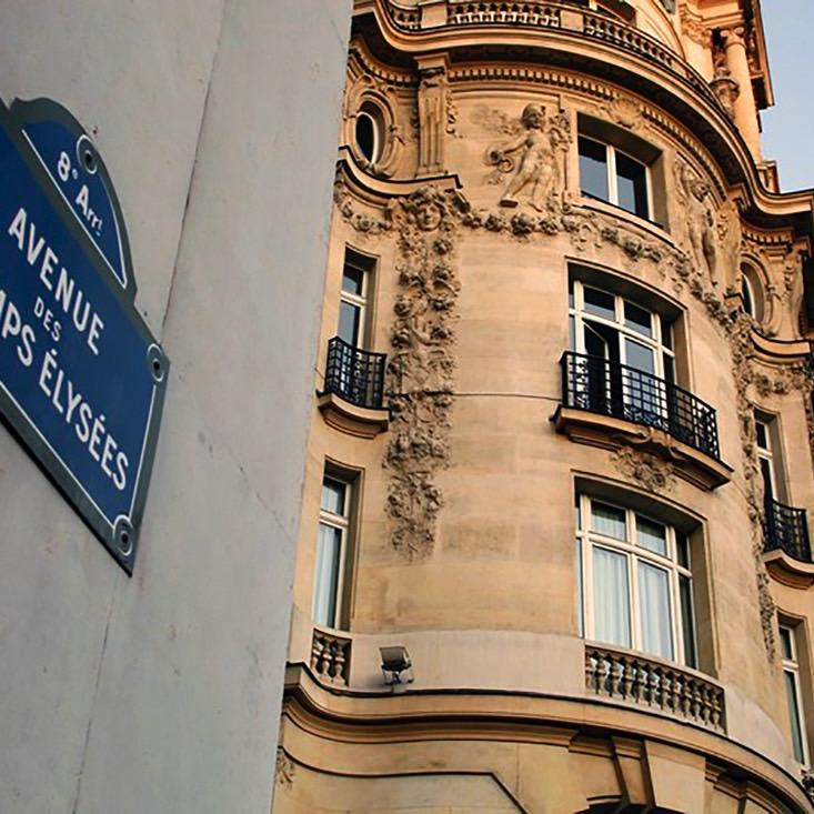 Champs-Elysees Avenue Board