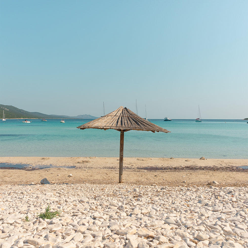 Beach at Island of Pag near Falkensteiner Hotels and Residences