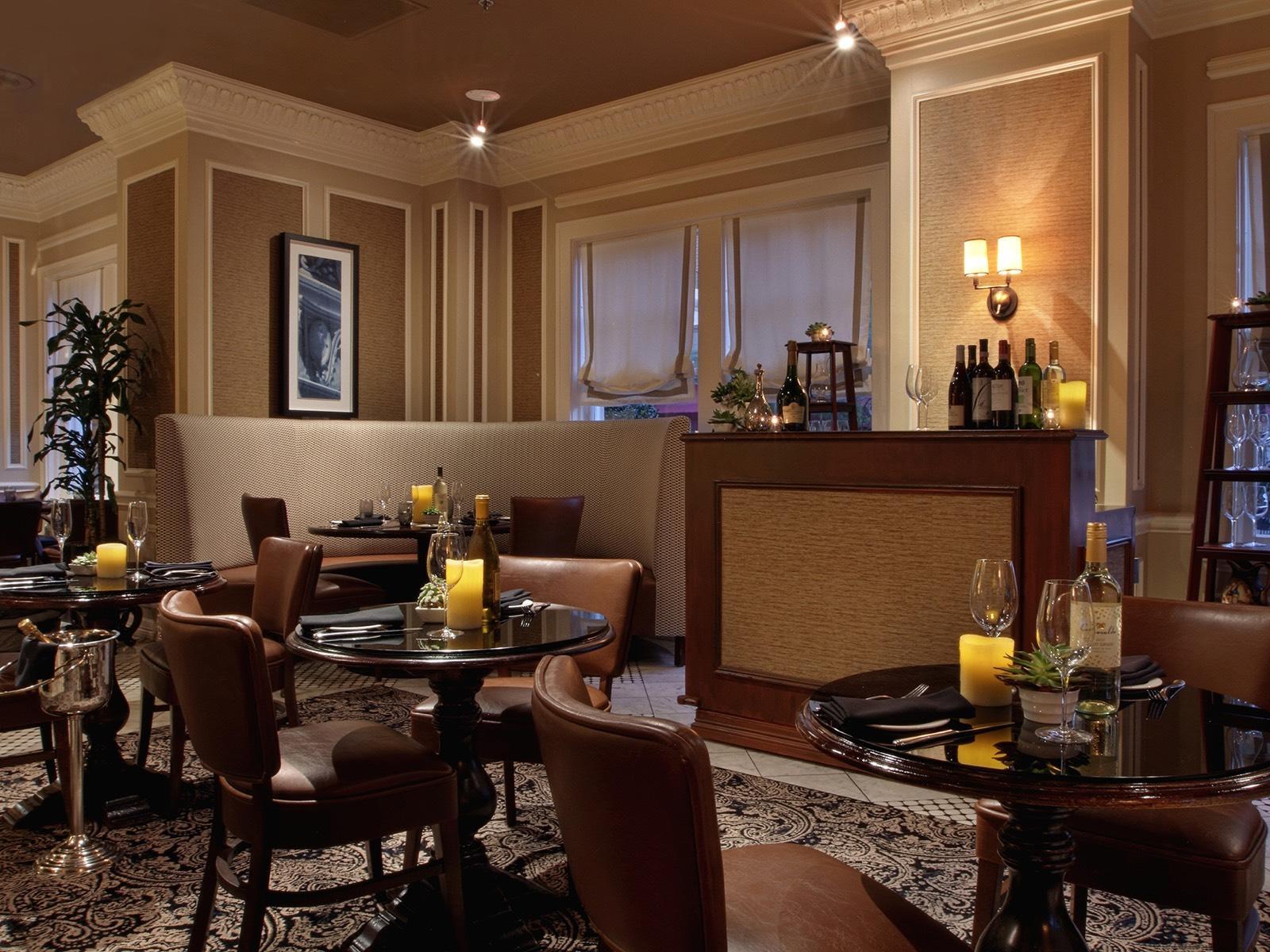 Dining area at The Landmark Restaurant