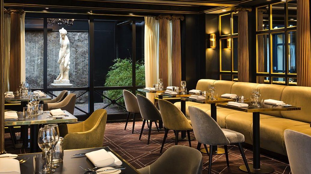 Dining area of The Avenue Restaurant at Avenue Louise Brussels