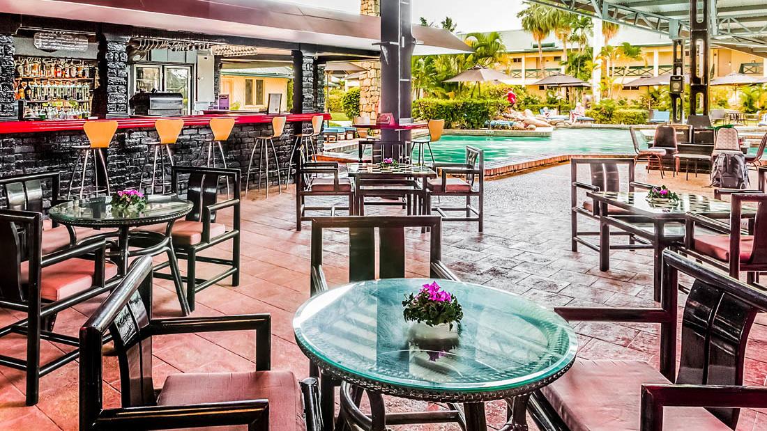 Bar and tables at Tokatoka Resort