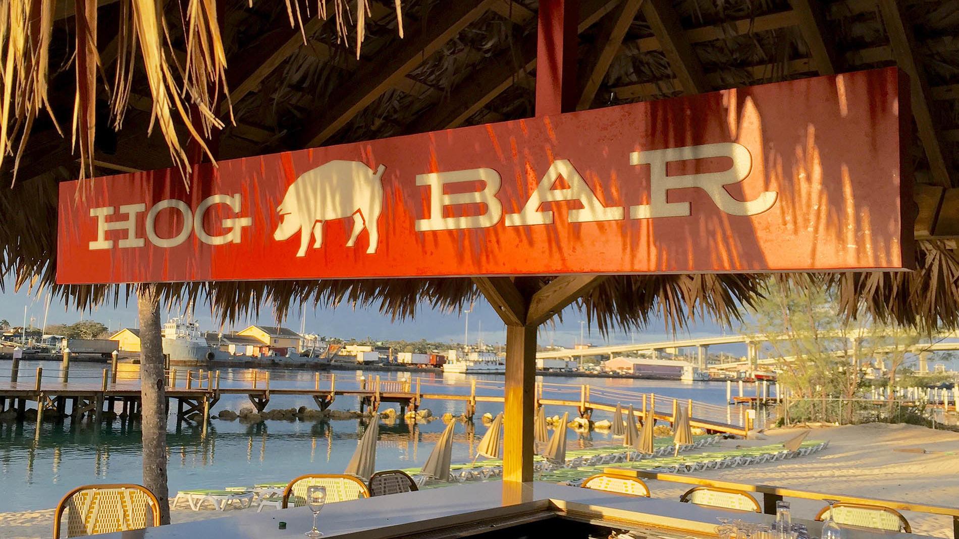 Hog Bar Sign at Warwick Paradise Island