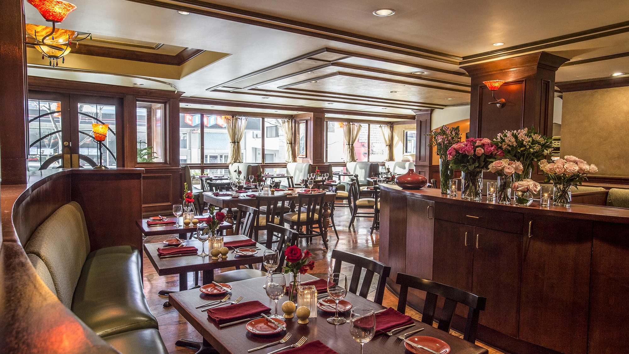 Dining area at Margaux Restaurant