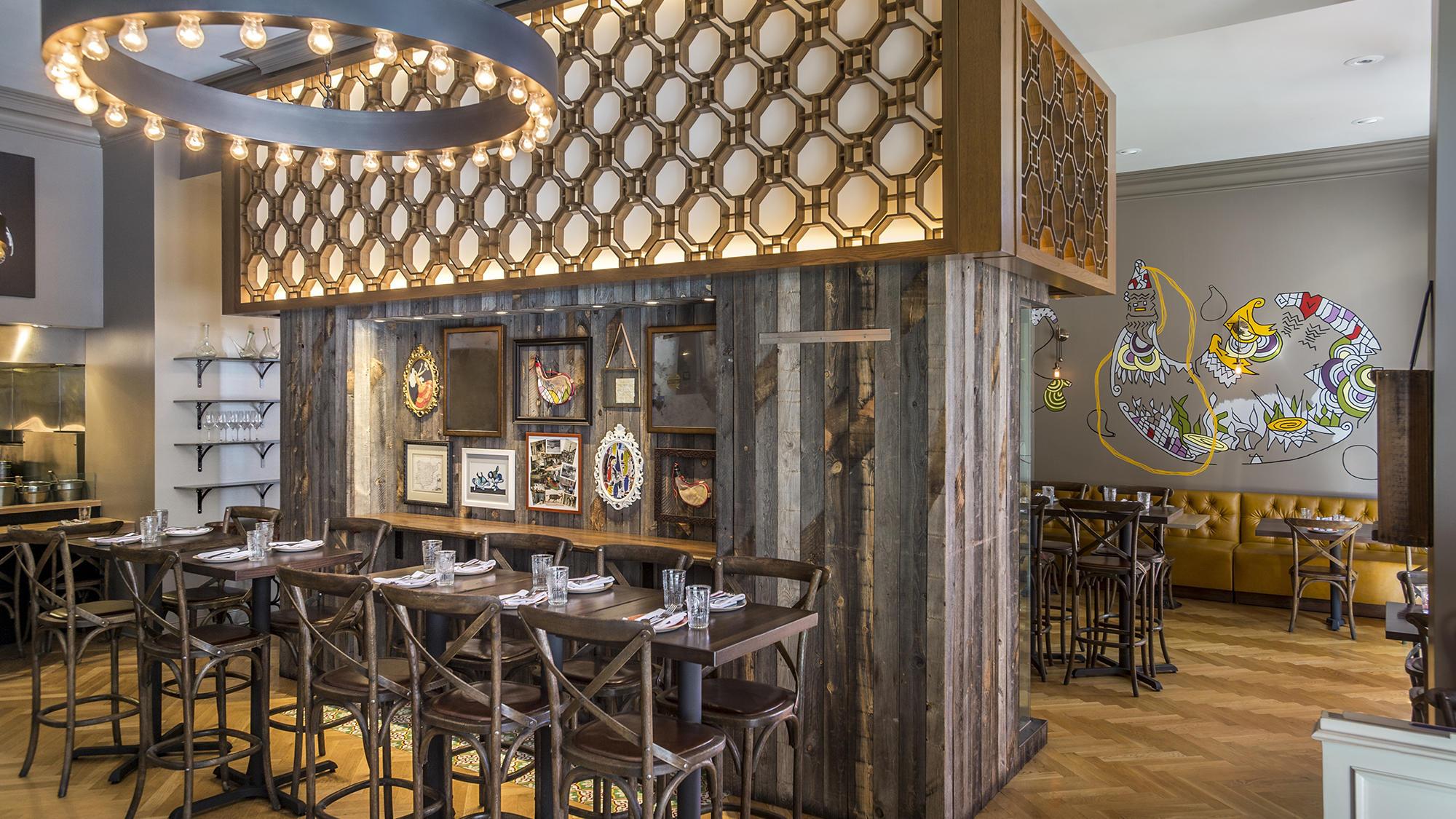 Bota Restaurant interior at Warwick San Francisco