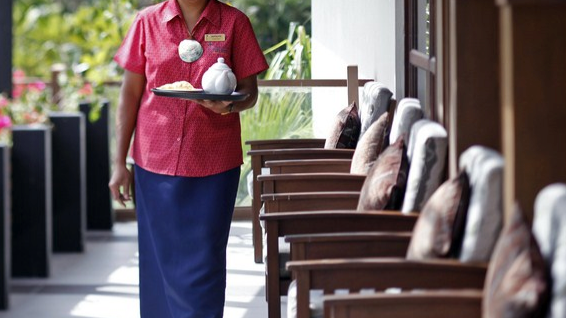 Room Service Woman at Tokatoka Resort