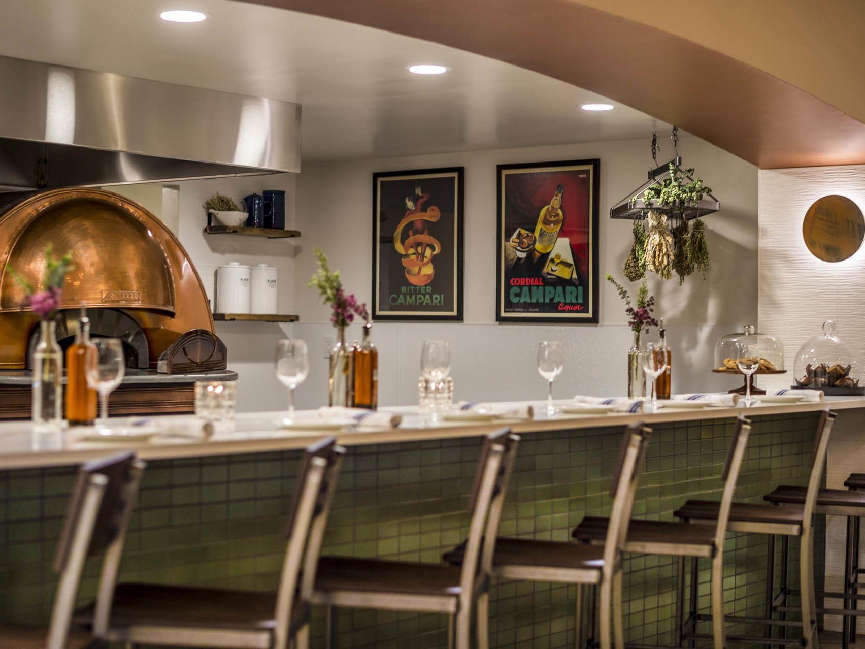 Gattara Restaurant Bar Top Seating