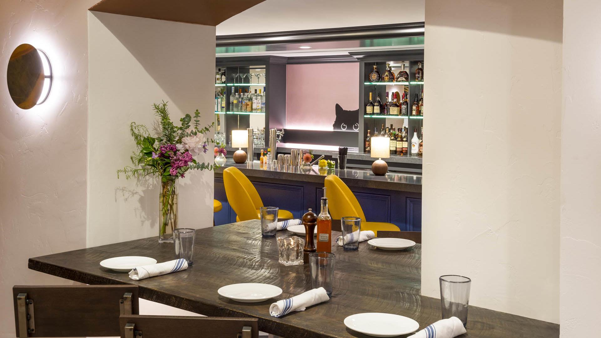 Gattara Restaurant Corner Table
