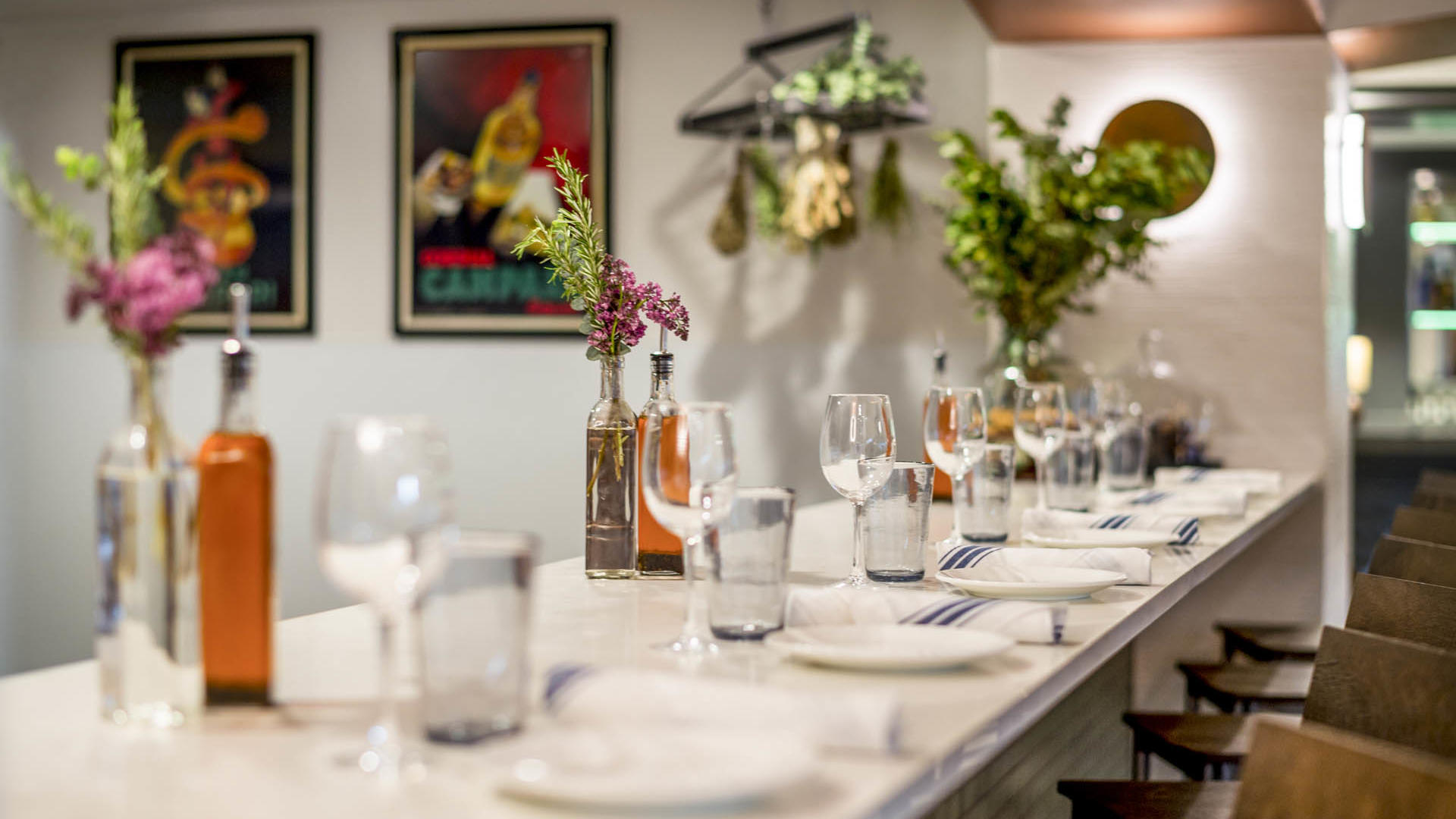 Gattara Restaurant High Table for Six People
