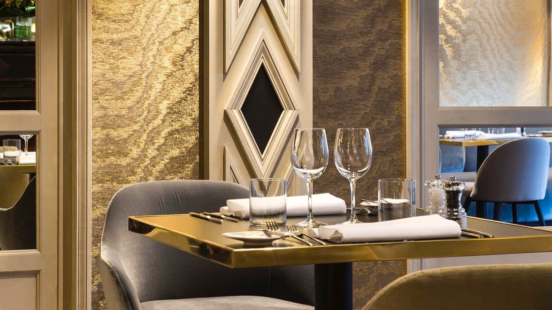 The Avenue Restaurant table set up at Avenue Louise Brussels