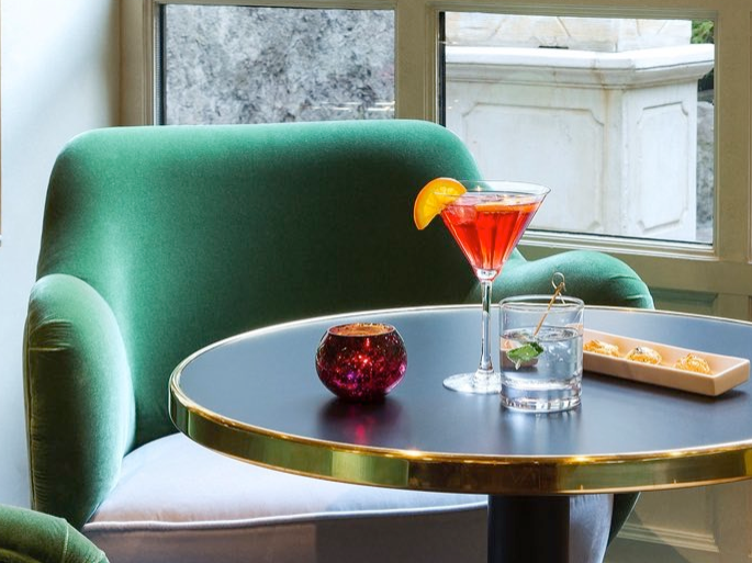 Cocktail at The Avenue Bar at Avenue Louise Brussels