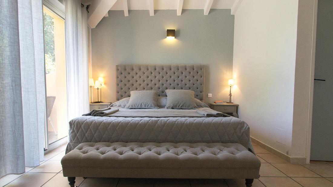 Superior Suite Bedroom at Roc e Fiori Hotel