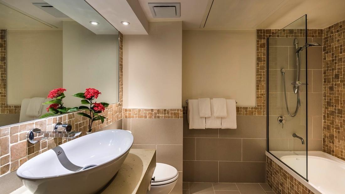 Guest bathroom at Warwick Fiji