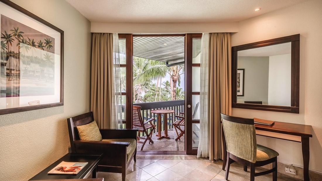 Warwick Deluxe room balcony at Warwick Fiji