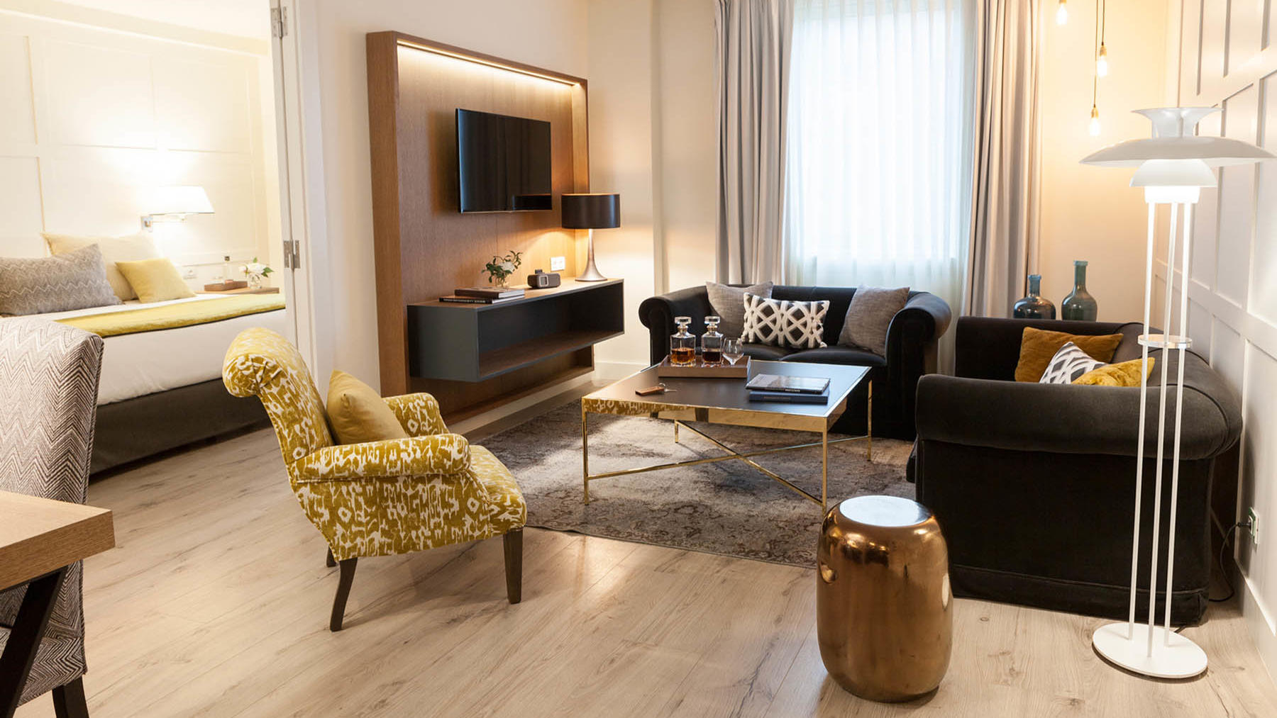 Suite Living Room at Gallery Hotel Barcelona